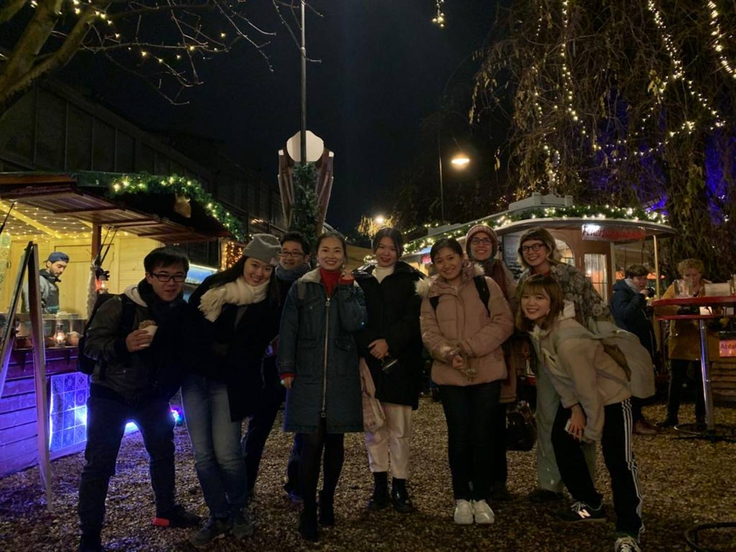 Group picture on the christmas market