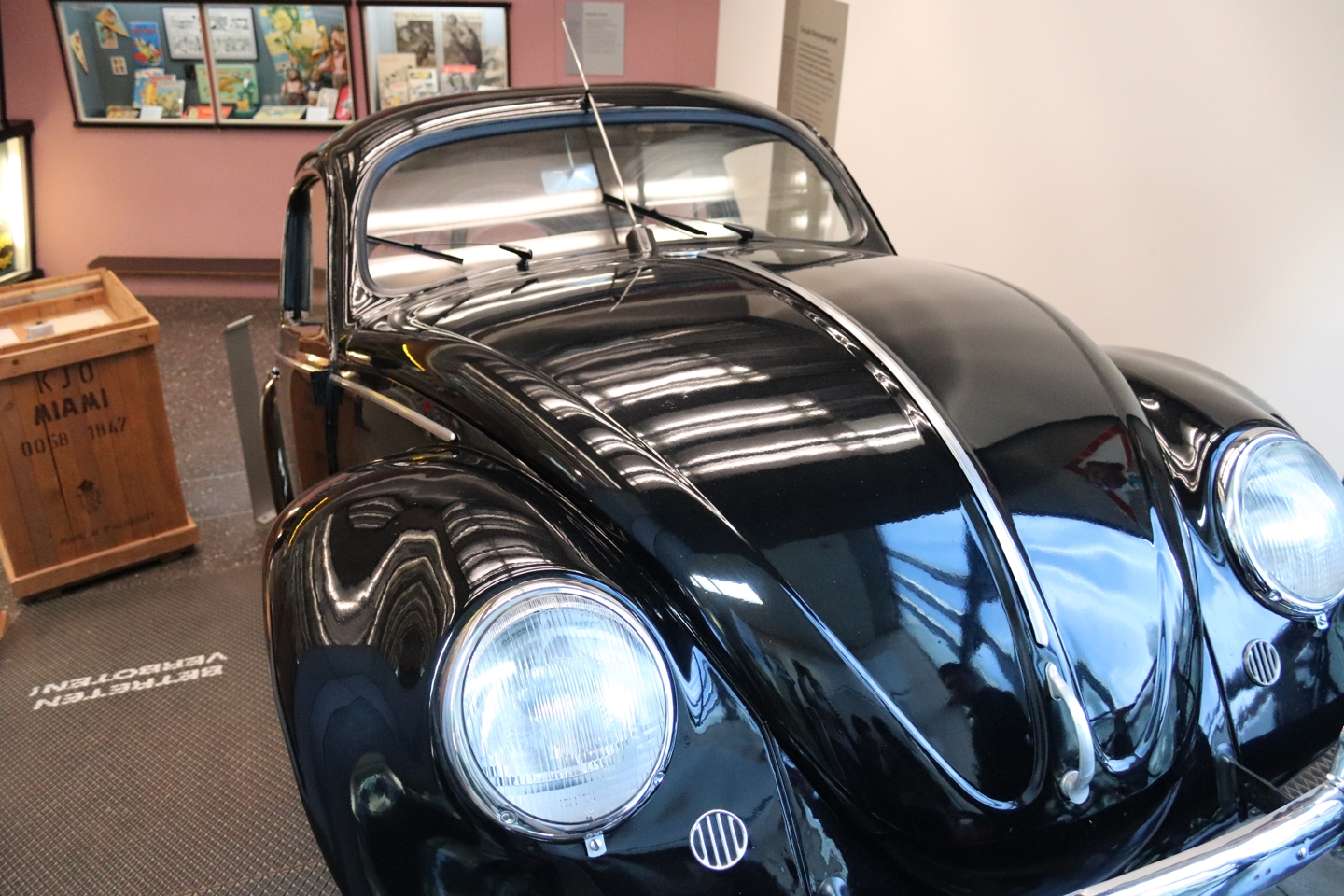 Old black Volkswagen Beetle