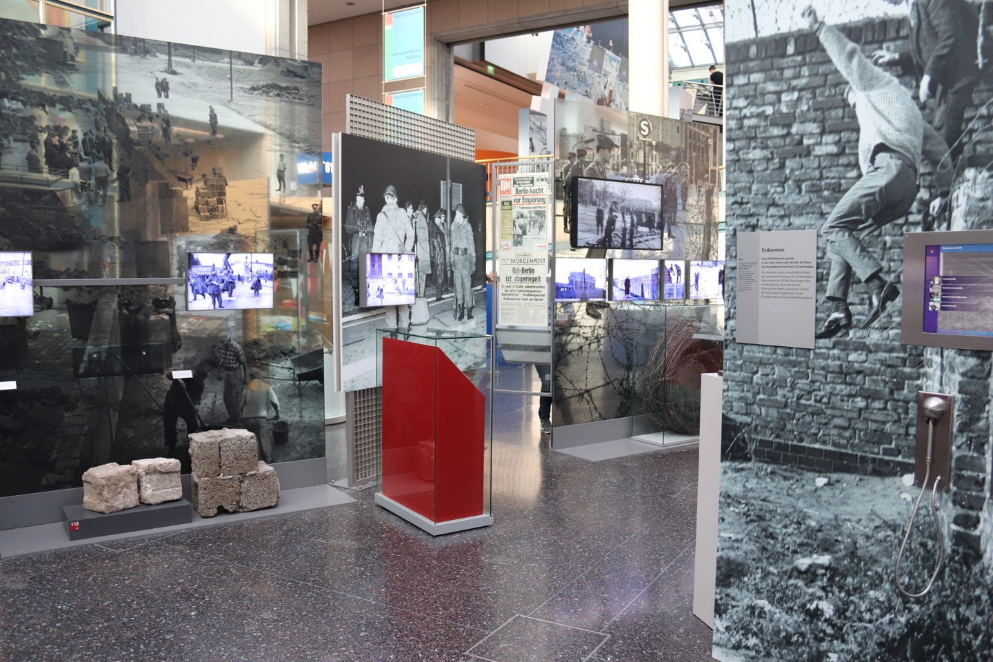 Part of the exhibition about the Berlin Wall.