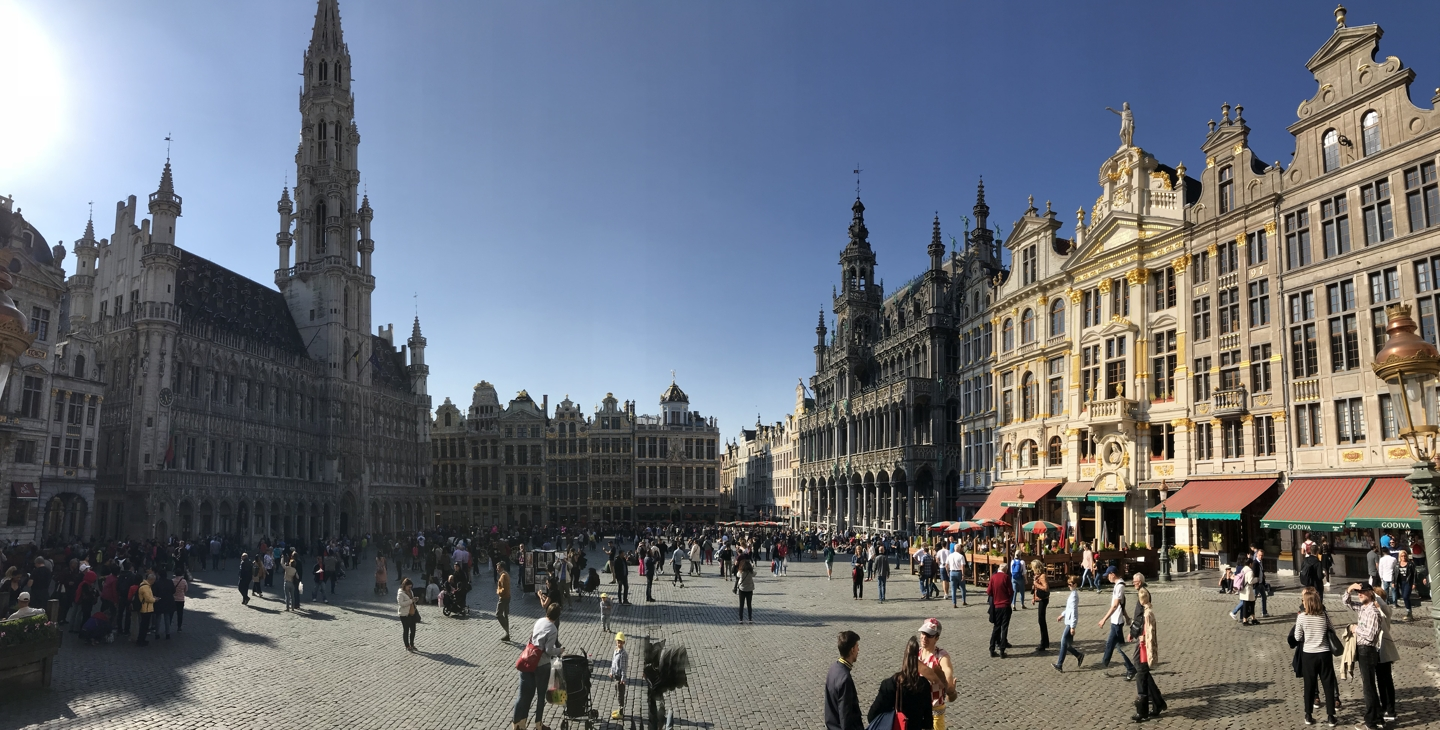 The Grand Place in Brussels. The Grand Place is the central square in Brussels.