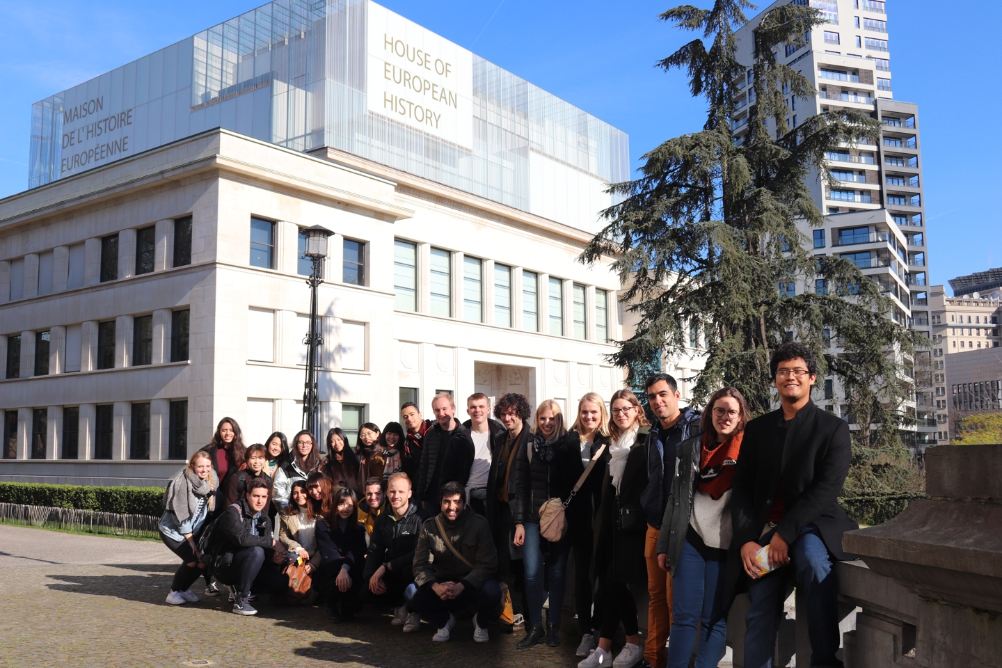 Group photo in front of the House of European History