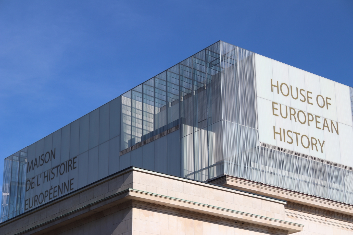 Building of the House of European History from outside.