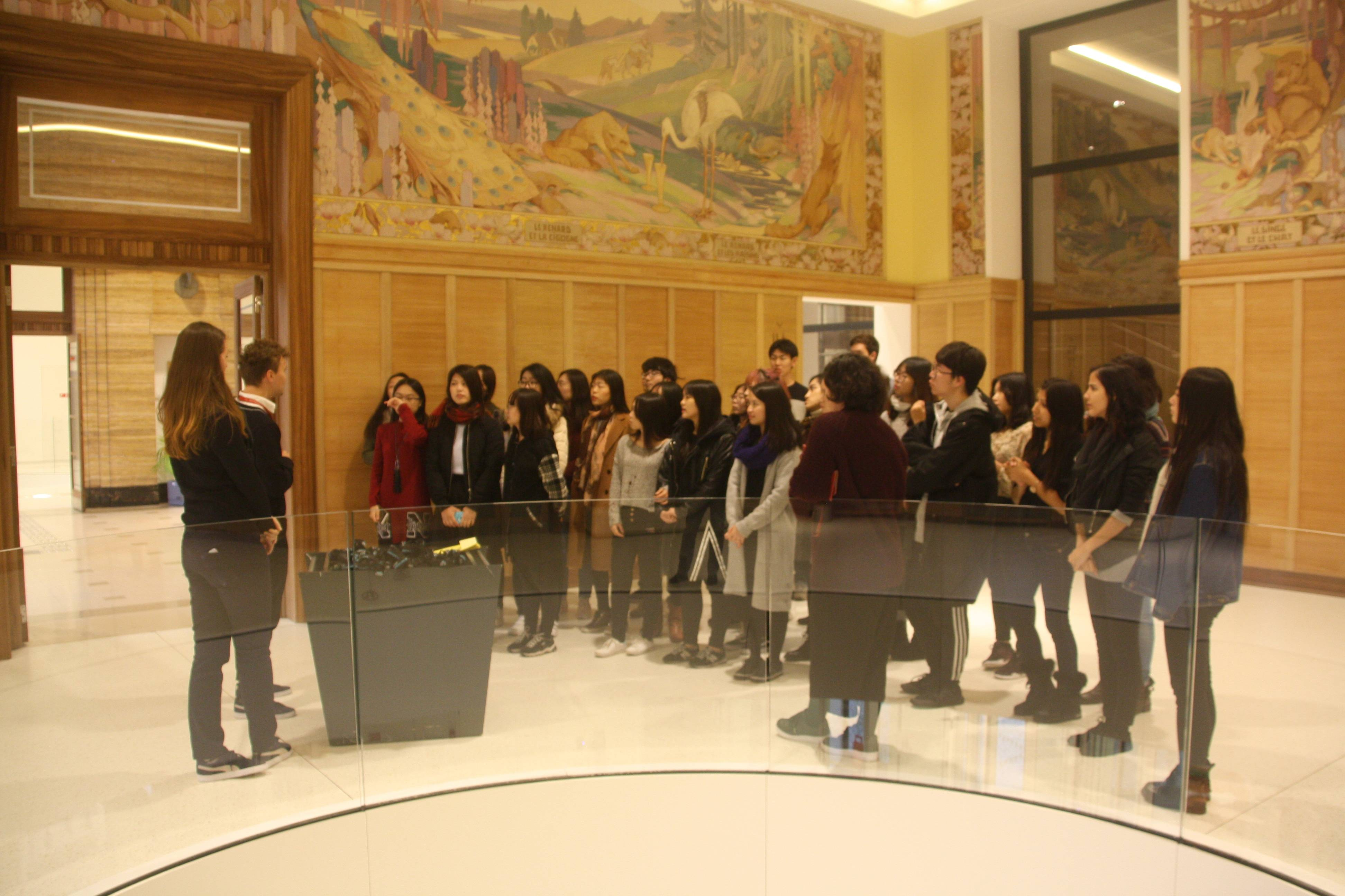 "Students in the museum ""The House of European History"""