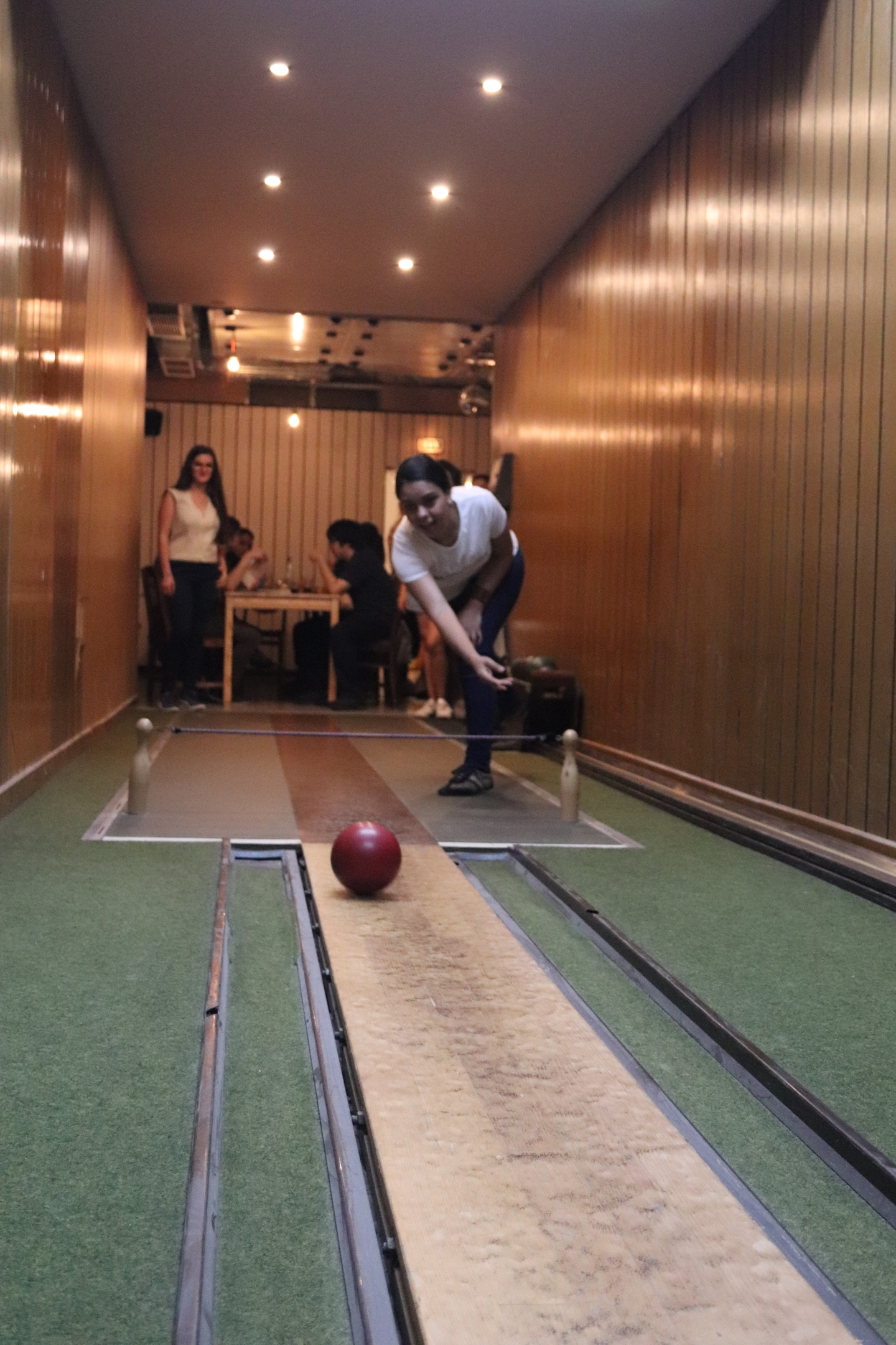 Frot view of bowling student.