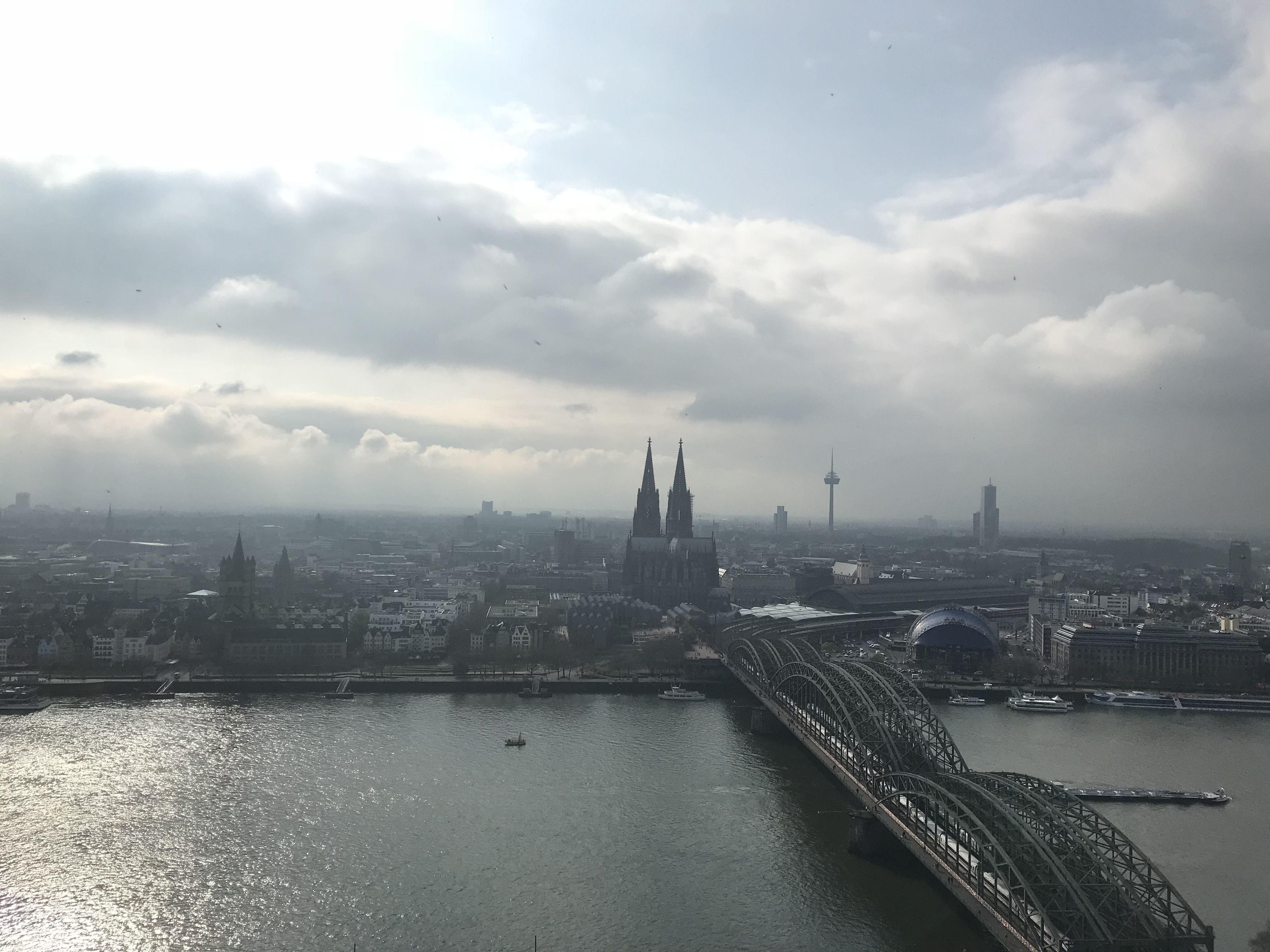 View on Cologne from the traingle tower.