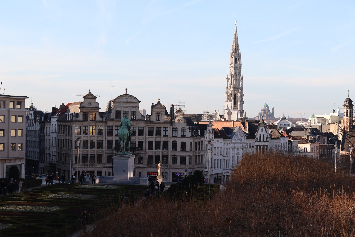 View of Brussels with the tower of the grote markt